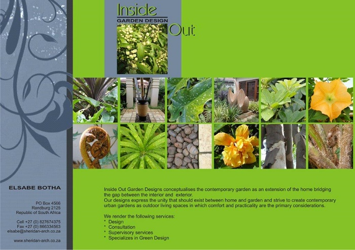 Inside Out Garden design A5 Leaflet